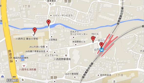 東谷周辺地図