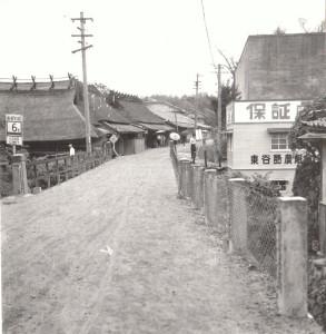 昔の東谷黒鉄橋